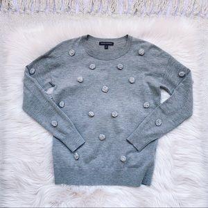 Banana republic Grey Pom Pom Sweater